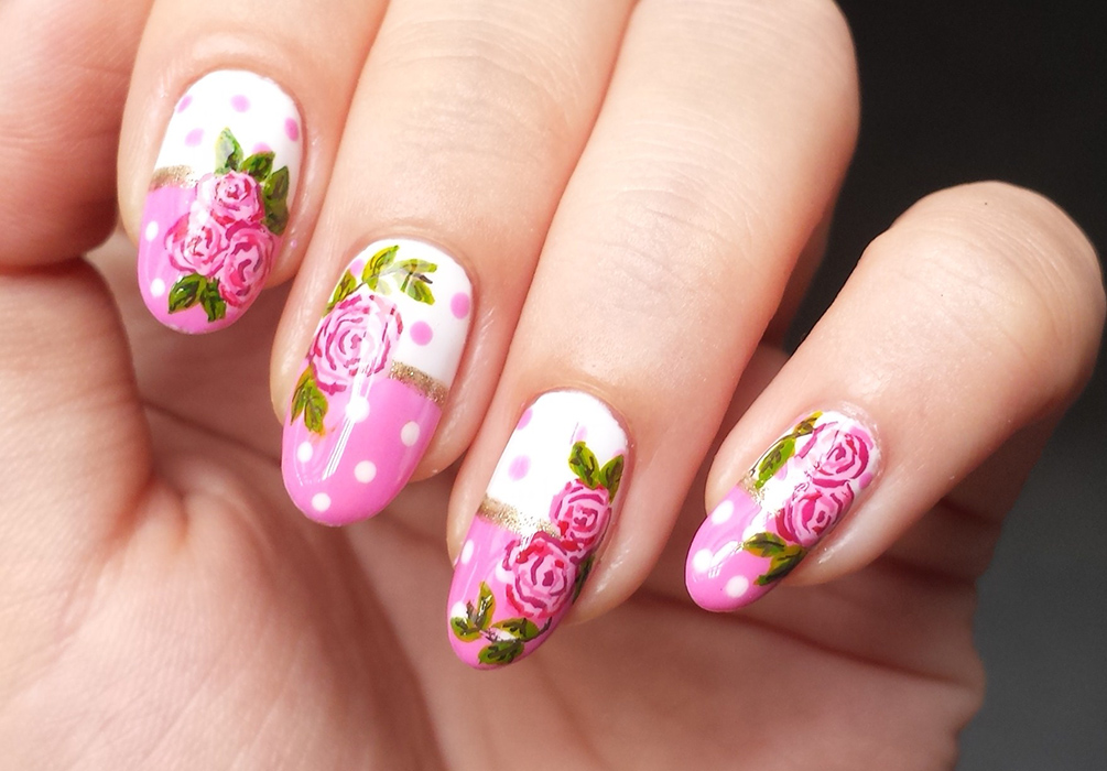 polkadots-and-roses-nail-art-4